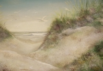 Outer Banks Paintings - Sand Dunes by Charles Roy Smith