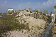 Topsail Island Photo Posters - Sand Dunes II Poster by East Coast Barrier Islands Betsy A Cutler
