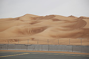 Road Travel Framed Prints - Sand Dunes Near Dubai Framed Print by David Trood