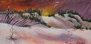 Sand Dunes Paintings - Sand Dunes by Pauline  Kretler