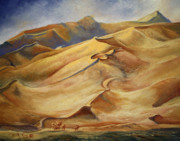 Sand Dunes Painting Framed Prints - Sand Dunes Framed Print by Roena King