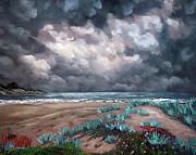 Laura Iverson - Sand Dunes Under Darkening Skies