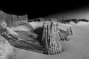 Beach Photograph Metal Prints - Sand Fence Metal Print by Jim Dohms