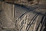 Hamptons Photo Prints - Sand Fence Print by Joel P Black