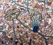 Mosaic Mixed Media - Sand Garden by Cristina-Mary Buzamet