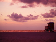 Beach Posters Prints - Sand Key Sunset Print by Milton Brugada