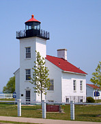 J.p. Prints - Sand Point Lighthouse in Escanaba MI Print by Mark J Seefeldt