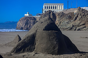 Blue Sky Art - Sand shark at Cliff House by Garry Gay