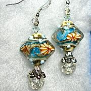 Surf Jewelry - Sand Surf and more beautiful artisan glass by Cheryl Brumfield Knox
