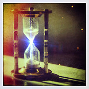 Instagram Posters - Sand Through Hourglass Poster by Jill Battaglia