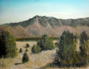 Foothills Pastels - Sandia Foothills by John De Young