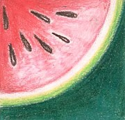 Watermelon Drawings - Sandia by Judith Correa