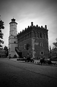 Feeding Birds Photo Prints - Sandomierz BW Print by Kamil Swiatek