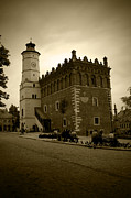 Old Tower Prints - Sandomierz Sepia Print by Kamil Swiatek