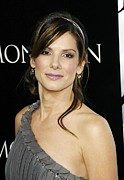 Diamond Earrings Posters - Sandra Bullock At Arrivals Poster by Everett
