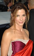 Messy Updo Metal Prints - Sandra Bullock At Arrivals For All Metal Print by Everett
