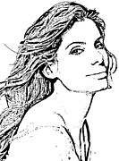Reynolds Drawings - Sandra Bullock by Lori Jackson