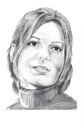 Famous People Drawings - Sandra Bullock by Murphy Elliott