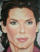 Portraits By Timothe Framed Prints - Sandra Bullock Framed Print by Timothe Winstead