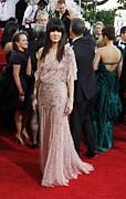 Evening Dress Framed Prints - Sandra Bullock Wearing A Jenny Packham Framed Print by Everett