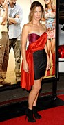 Satin Dress Metal Prints - Sandra Bullock Wearing A Lanvin Dress Metal Print by Everett