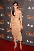 Beige Dress Framed Prints - Sandra Bullock Wearing A Vivienne Framed Print by Everett