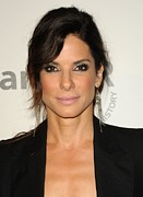 Sandra Bullock Framed Prints - Sandra Bullock Wearing Irit Design Framed Print by Everett