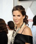 Lip Gloss Photo Posters - Sandra Bullock Wearing Lanvin Necklaces Poster by Everett