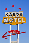 Retro Art Photos - Sands Motel by Matthew Bamberg
