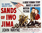 Adele Framed Prints - Sands Of Iwo Jima, John Wayne, Adele Framed Print by Everett