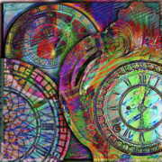 Clock Hands Digital Art Posters - Sands of Time Poster by Barbara Berney