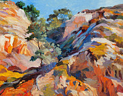State Paintings - Sandstone Canyon by Judith Barath