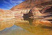 Desert Metal Prints - Sandstone Illusions Metal Print by Mike  Dawson