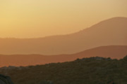 Barren Land Prints - Sandstorm during Sunset on Old Highway Route 80 Print by Christine Till