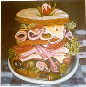 Bread Paintings - Sandwich by Geri Jones