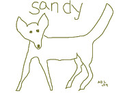 Collie Digital Art Posters - Sandy Poster by Anita Dale Livaditis