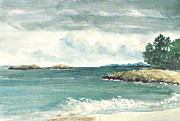 Massachusetts Coast Paintings - Sandy Beach by Paul Gardner