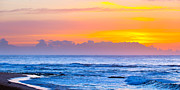 Illustrative Photo Prints - Sandy beach sunrise Print by Daniel K