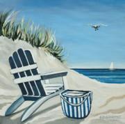 Sandy Cove Print by Elizabeth Robinette Tyndall