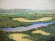 Cape Cod Paintings - Sandy Marsh by Paul Galante