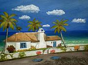 Tropical Painting Originals - Sandy Point by Gordon Beck