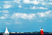 Sandy Point Park Prints - Sandy Point Shoal Lighthouse Print by Thomas R Fletcher