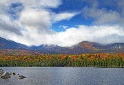 Baxter Prints - Sandy Stream Pond in Baxter State Park Maine Fall Print by Brendan Reals