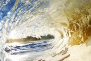 Tunnel View Prints - Sandy Wave Barrel Print by Quincy Dein - Printscapes