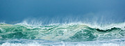 Blue Green Wave Photos - Sandy Wave by Michelle Wiarda