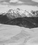 Lightning Wall Art Prints - Sangre de Cristo Mountains and The Great Sand Dunes BW V Print by James Bo Insogna
