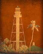Sanibel Posters - Sanibel Island Lighthouse Poster by Trish Tritz