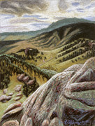 Foothills Pastels - Sanitas Trail by Gina Blickenstaff