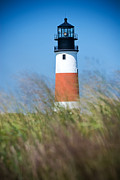 New England Lighthouse Digital Art Prints - Sankaty Head Light House Print by Dolly Genannt