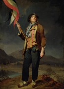Flag Painting Prints - Sans Culotte Print by Louis Leopold Boilly